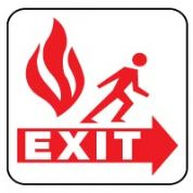 Fire safety sign - Fire Escape 053